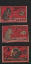VERY OLD match box labels CHINA or JAPAN Monkey #417